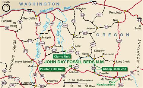 map of oregon day fossil oregon map oregon map