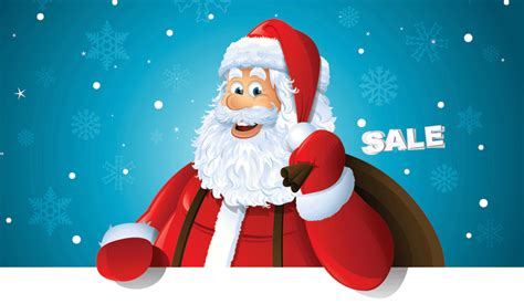 free santa sale christmas snow fall ebay template free