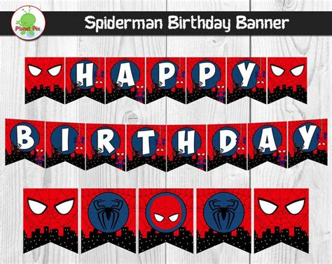 printable spiderman birthday banner 7 best birthday party banners images on pinterest happy