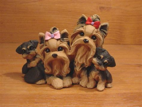 are yorkies family dogs 1000 images about polymer clay dogs and more on yorkie polymer clay