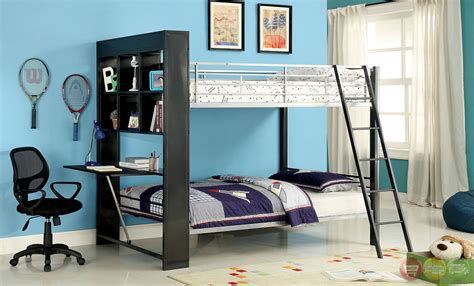 langley contemporary silver  gun metal bunk bed