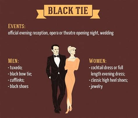 design dress code infographic basic dress code rules for special events