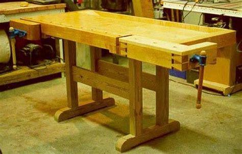 traditional wood workbench workshop wood plans