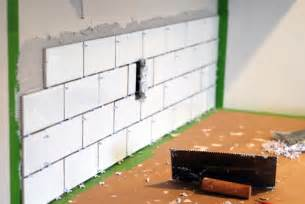 Installing Subway Tile Backsplash In Kitchen Kitchen Makeover Diy Kitchen Backsplash Subway Tile