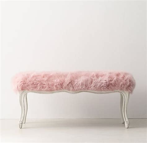 faux fur bench rh teen sophie faux fur bench rose interior design tips and home decoration trends