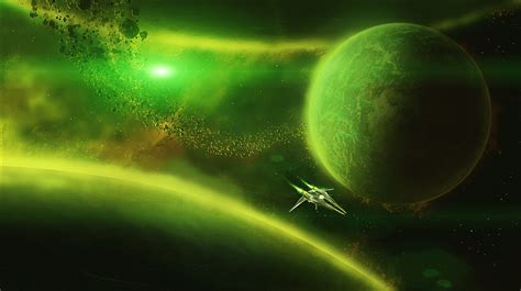 wallpaper space green green space flight wallpapers hd