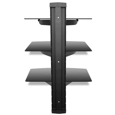 porta mensole vetro articoli per supporto con 3 mensole di vetro montaggio a