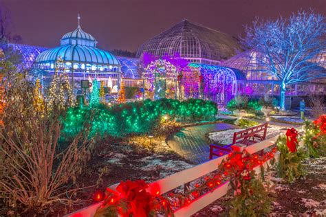 Christmas Light Neighborhoods Phipps Winter Flower Show And Light Garden Is Bigger Than