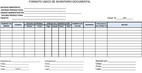 formato unico de inventario documental formato unico de inventario documental 1