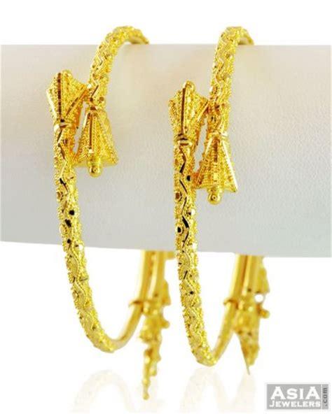pattern of gold kada gold fancy pipe kada ajba58861 22kt gold kadas pair