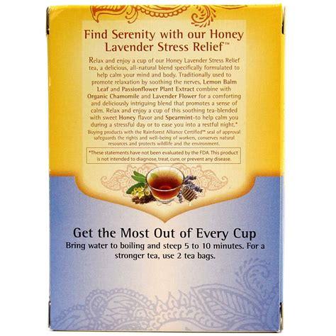 Honey Lavender Stress Relief Yogi During Detox by Yogi Tea Organic Teas Blend Honey Lavender Stress
