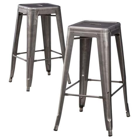 Carlisle Counter Stool by Carlisle 29 5 Quot Backless Metal Barstool Set Of 2 Metals