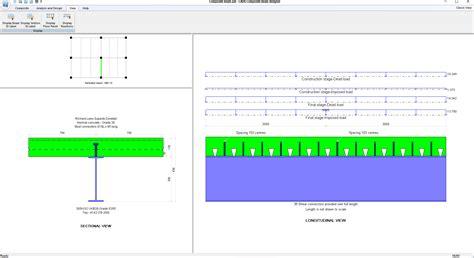 composite section properties calculator composite beam designer cads uk