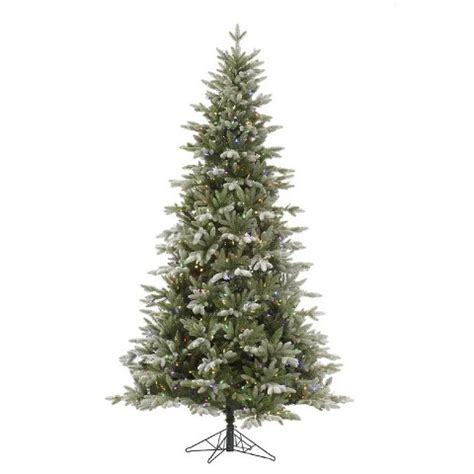 balsam frosted led pre lit slim artificial christmas tree