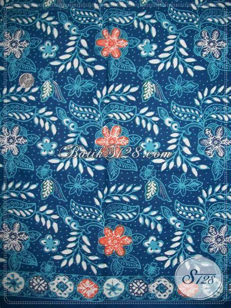 Kain Batik Garutan Warna Biru kain batik warna biru elegan kain batik motif floral k937ct toko batik 2018