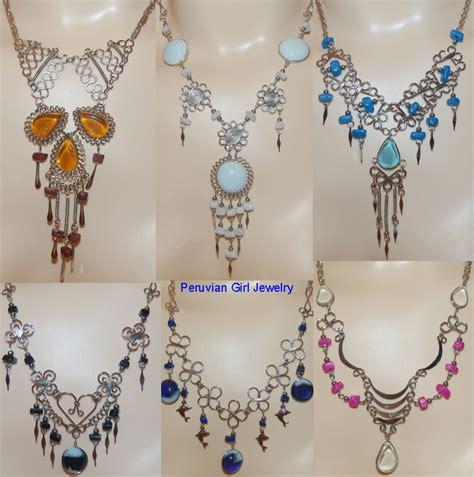 Handmade Peruvian Jewelry - 8 murano glass necklaces peru handmade bulk jewelry lot ebay