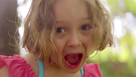 little girl mouth open mouth stock footage video shutterstock