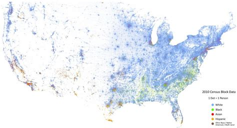 race map usa the racial dot map of the united states of america