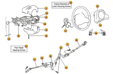 jeep parts diagram interactive diagram jeep steering column parts for
