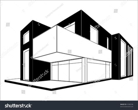 house line drawing images stock photos vectors shutterstock modern house 3d drawing vector isolated stock vector