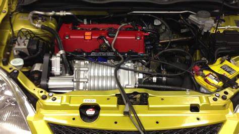 supercharged honda element honda civic ep3 ct supercharged k24 on a 8lb pulley