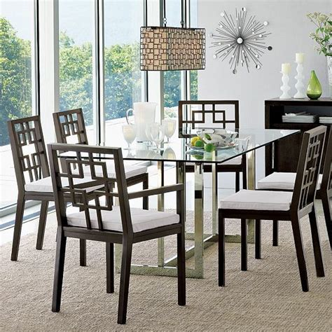 modern glass dining room tables hicks glass top dining table modern dining tables by