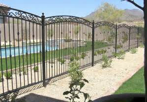 Decorative Pool Fence Ideas Wrought Iron Fence Pictures And Ideas
