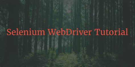 tutorial php webdriver selenium webdriver