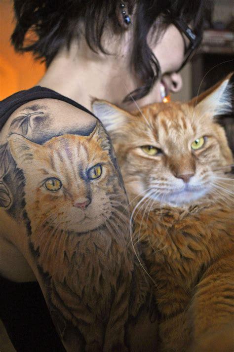 tattoo ginger cat portrait tattoo of my ginger cat ziggy by michie kojima
