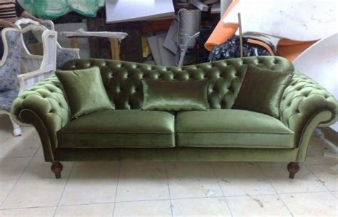 green fabric sofa chesterfield sofa green fabric classic interior design