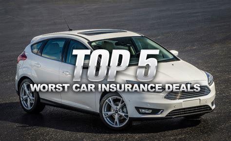top  worst car insurance deals