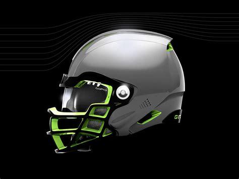 new football helmet design vicis gridiron labs brand logo sports identity graphic
