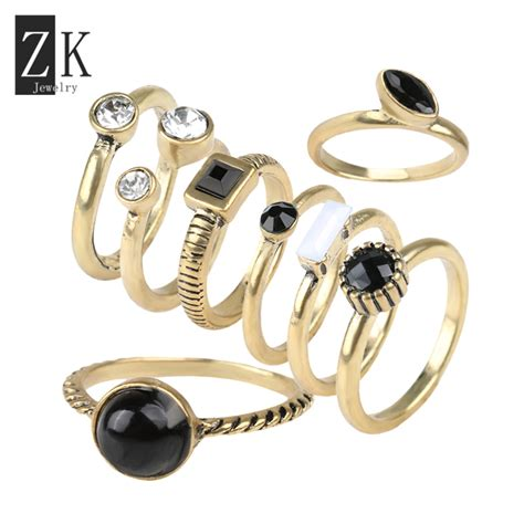 fashion style above the knuckle ring midi rings set for