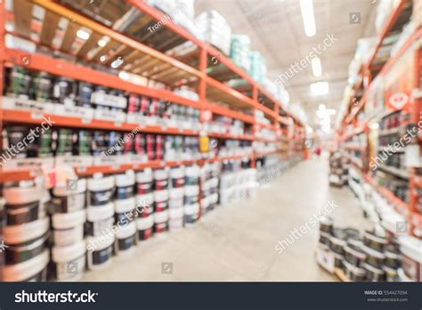 blurred large hardware store america defocused stock photo