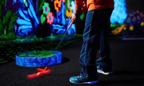 Black Light Mini Golf by Indoor Black Light Mini Golf Putters Groupon