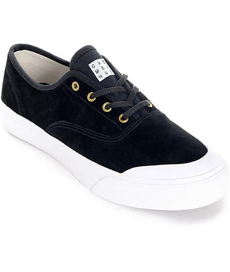 black and white skate shoes huf cromer black and white skate shoes