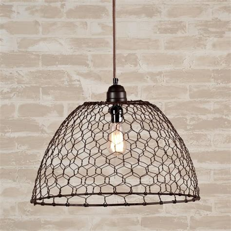Basket Pendant Light Chicken Wire Basket Pendant Light Pendant Lighting By Shades Of Light