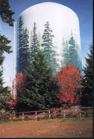 water tower mural blending   landscape