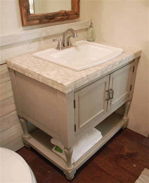 How To Make Vanity by Home Dzine Bathrooms Make A Vintage Bathroom Vanity