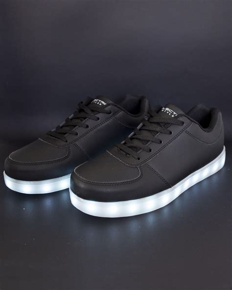 Led Shoes Black light up led shoes all black from electric styles