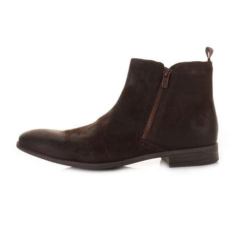 mens suede zip boots mens clarks chart zip brown waxy suede chelsea ankle