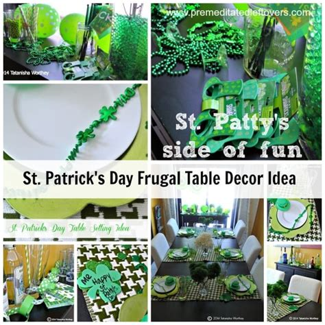 frugal home decor frugal st patrick s day table decor ideas