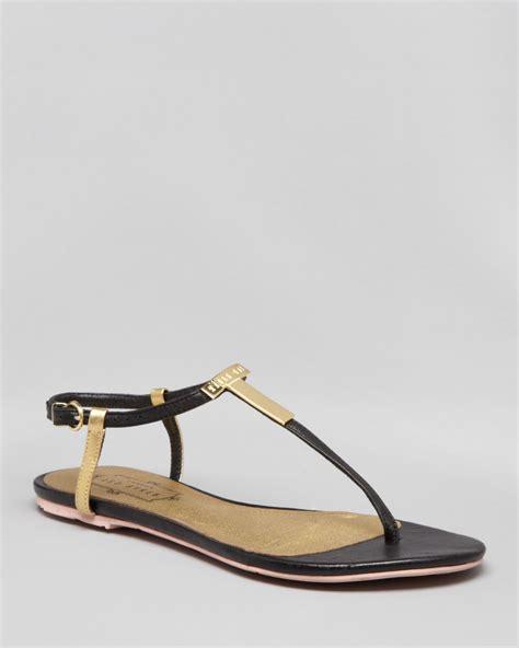 bakers sandals ted baker logo flat sandals reveera in black lyst