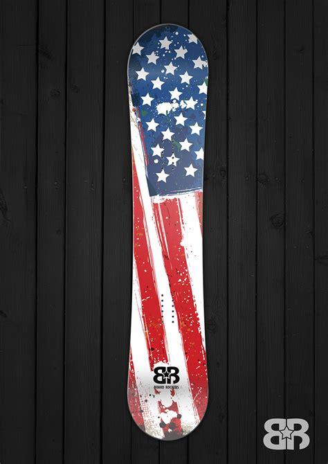 Old usa snowboard wrap board rockers