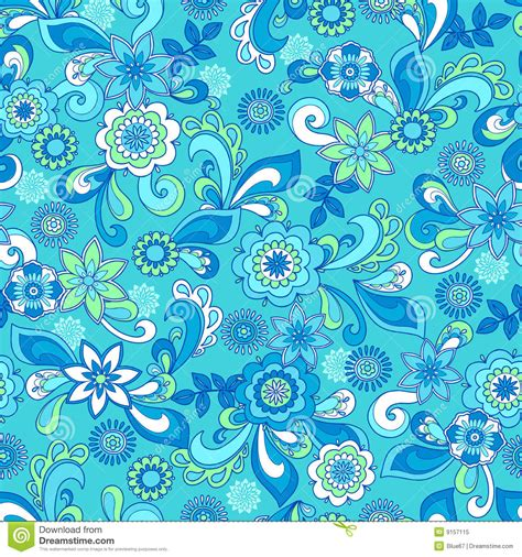 floral pattern repeat vector funky floral seamless repeat pattern stock vector image