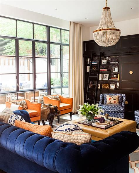 blue and orange living room decor orange and blue living room design ideas