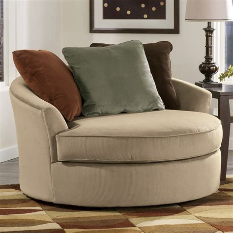 Signature Design By Ashley 7070421 Laken Oversized Round Oversize Swivel Chair