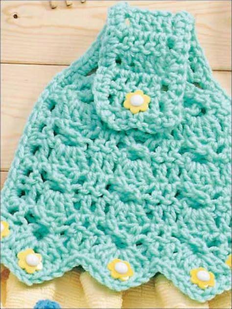 Crochet Kitchen Towel Topper by Crochet Free Pattern Toppers Towel Crochet Club