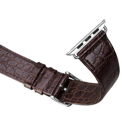Aligator Leather Band For Apple 38mm Blue hoco alligator style leather band for apple 38mm