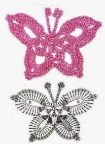 esquema de mariposas para polera crochet patrones de mariposas crochet crochet y dos agujas